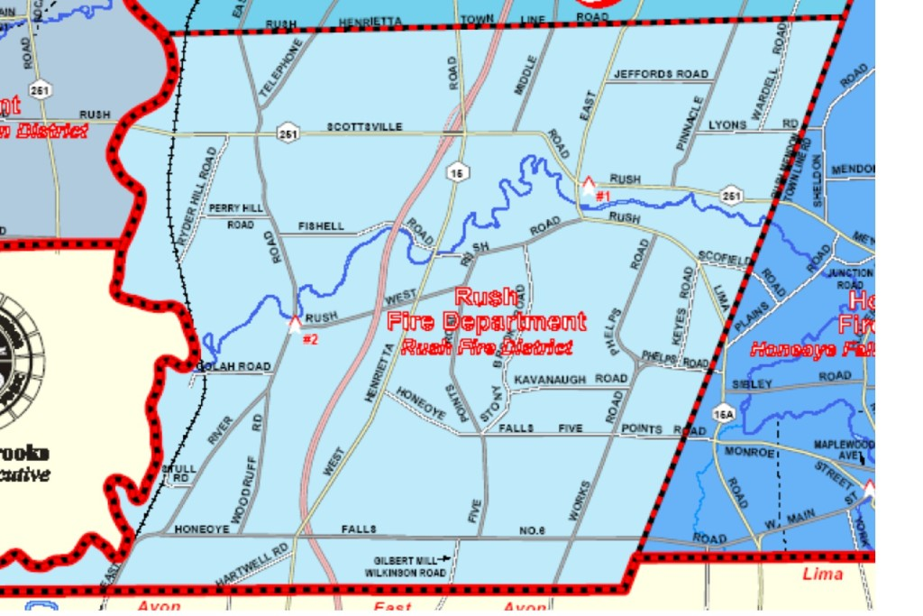 Map of Rush Fire District